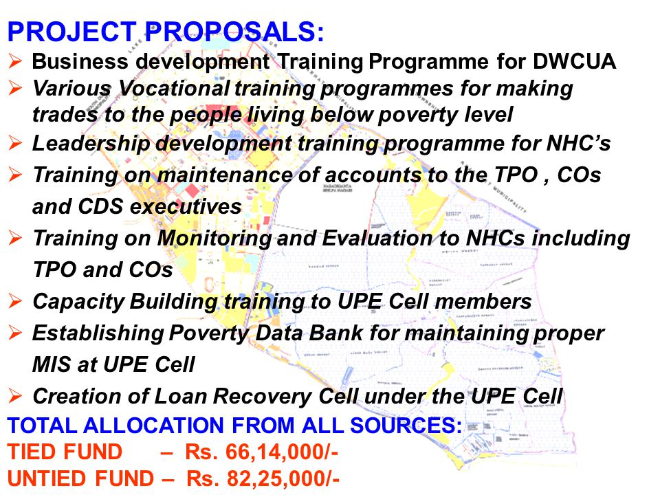 PROJECT PROPOSALS: Business development Training Programme for DWCUA
