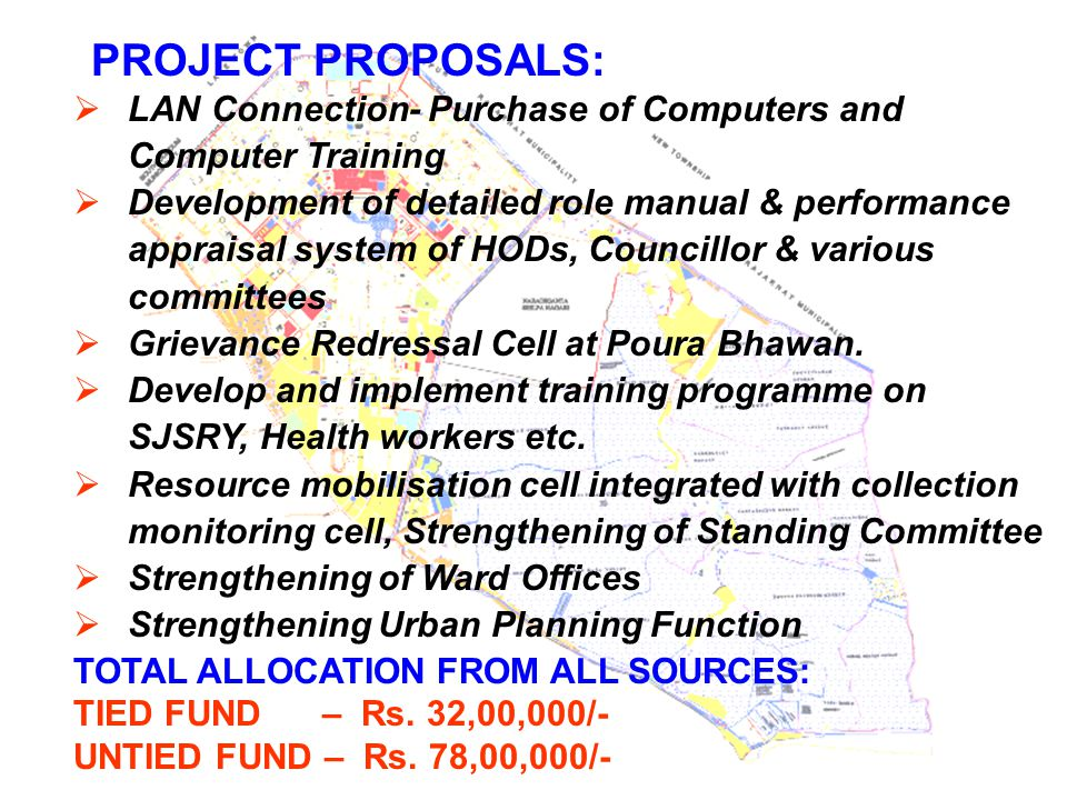 PROJECT PROPOSALS: LAN Connection- Purchase of Computers and Computer Training.