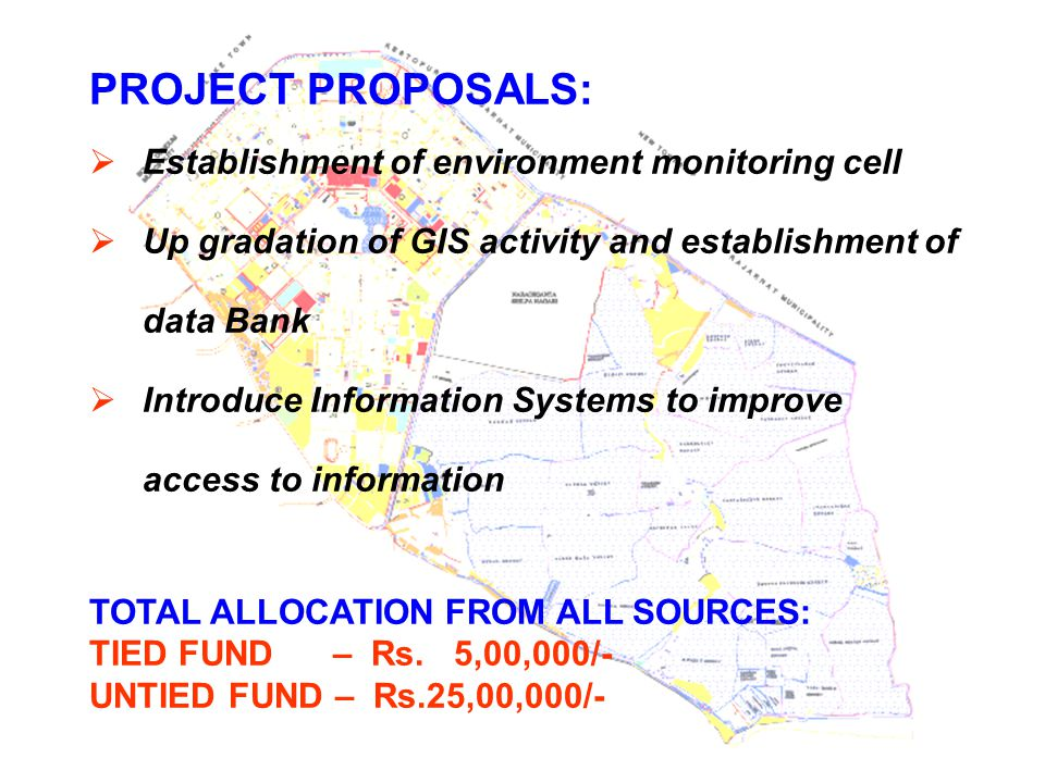 PROJECT PROPOSALS: Establishment of environment monitoring cell