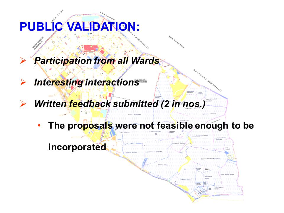 PUBLIC VALIDATION: Participation from all Wards