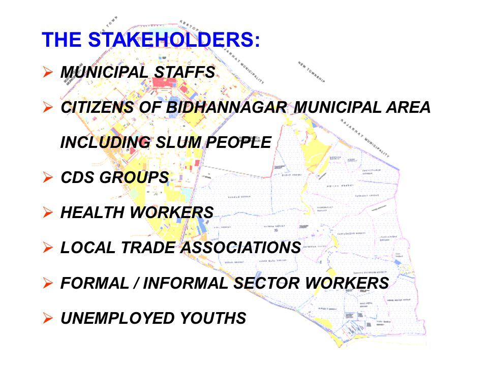 THE STAKEHOLDERS: MUNICIPAL STAFFS