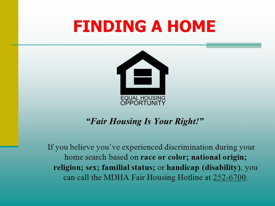 Fair Housing Is Your Right!