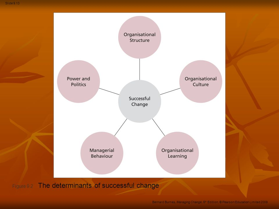 Figure 9.2 The determinants of successful change