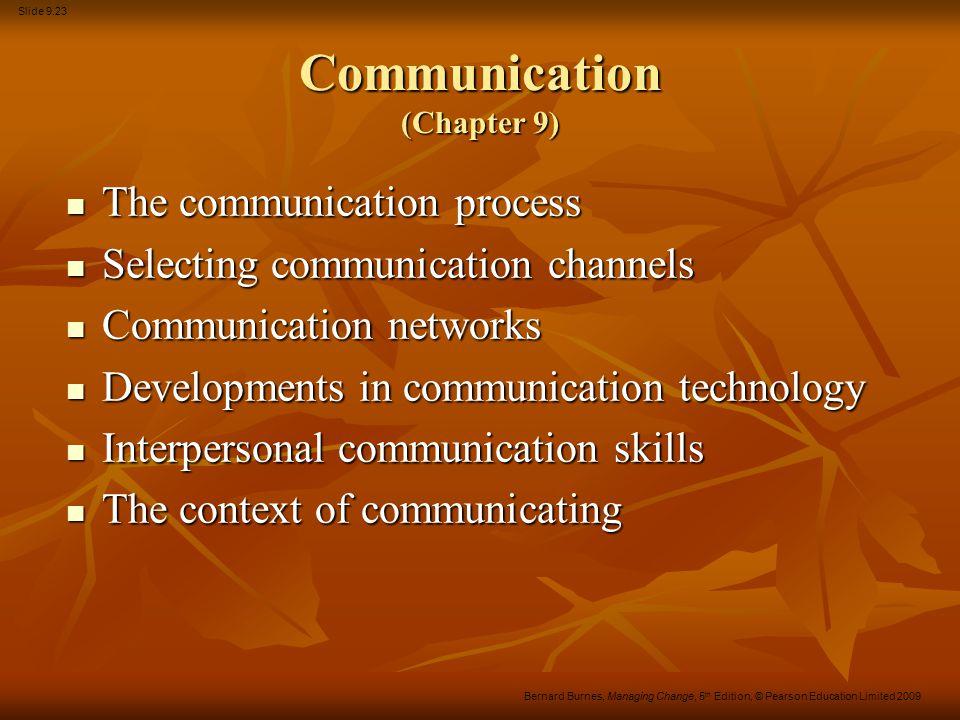 Communication (Chapter 9)