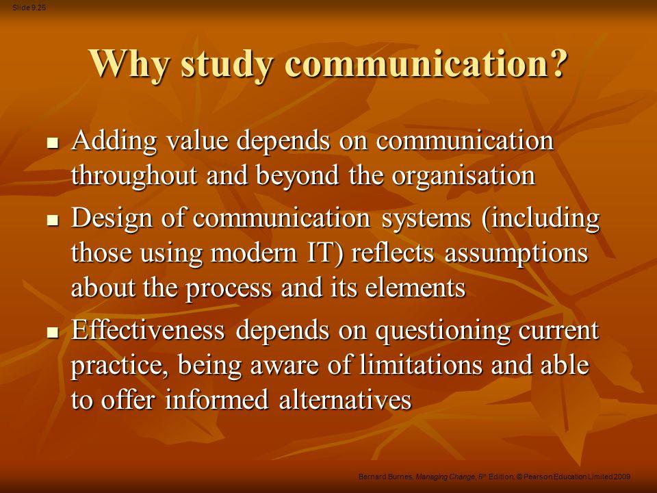 Why study communication