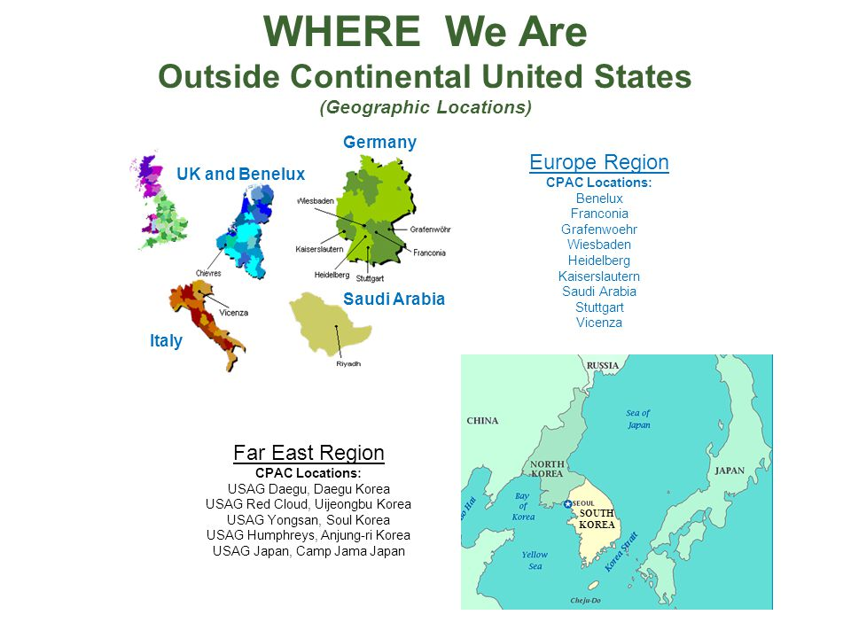Outside Continental United States (Geographic Locations)