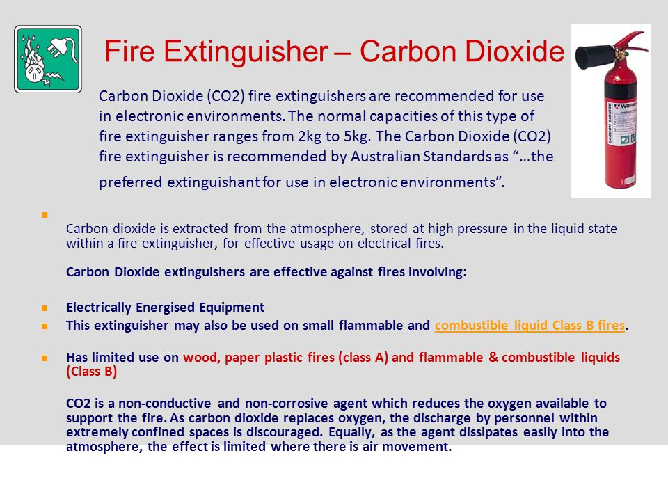 Fire Extinguisher – Carbon Dioxide