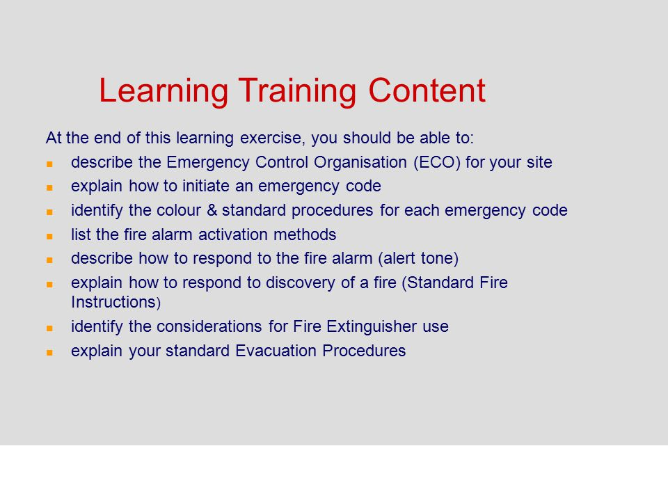 Learning Training Content