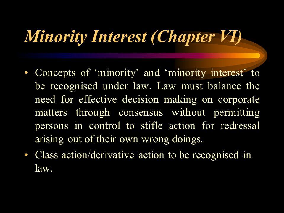 Minority Interest (Chapter VI)