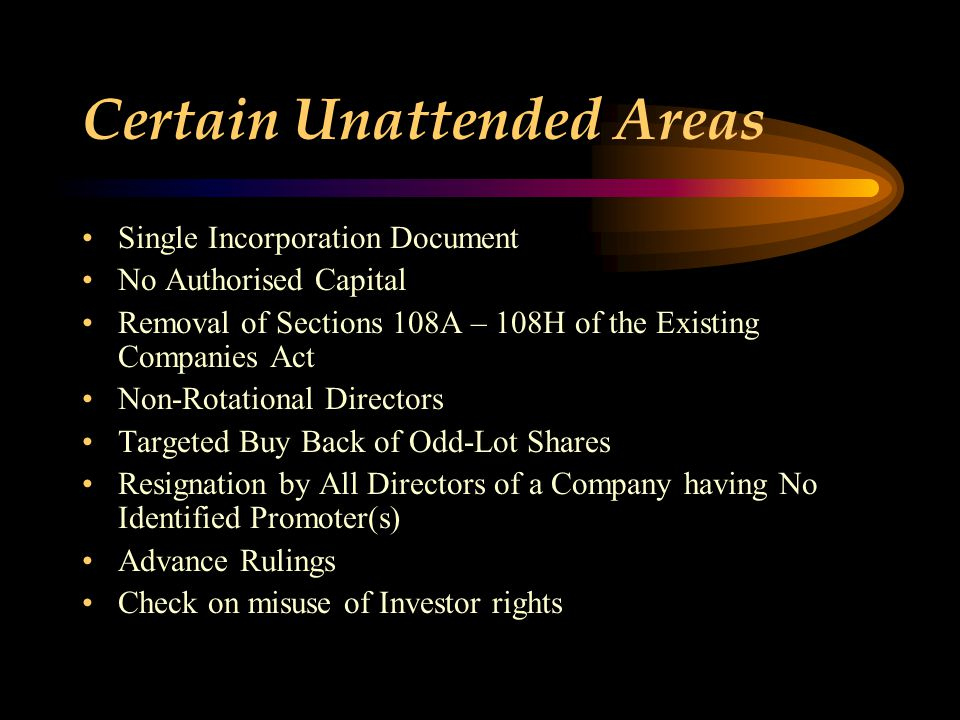 Certain Unattended Areas