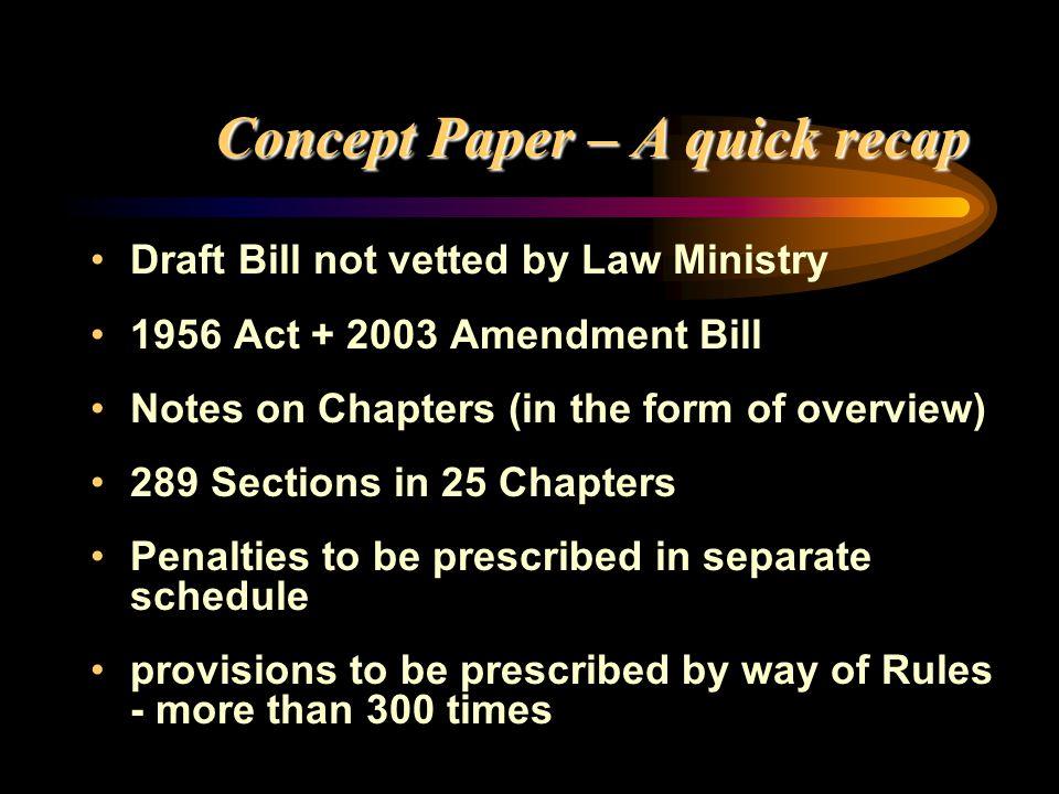 Concept Paper – A quick recap