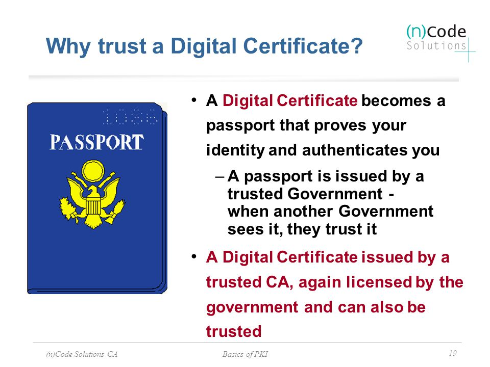 Why trust a Digital Certificate