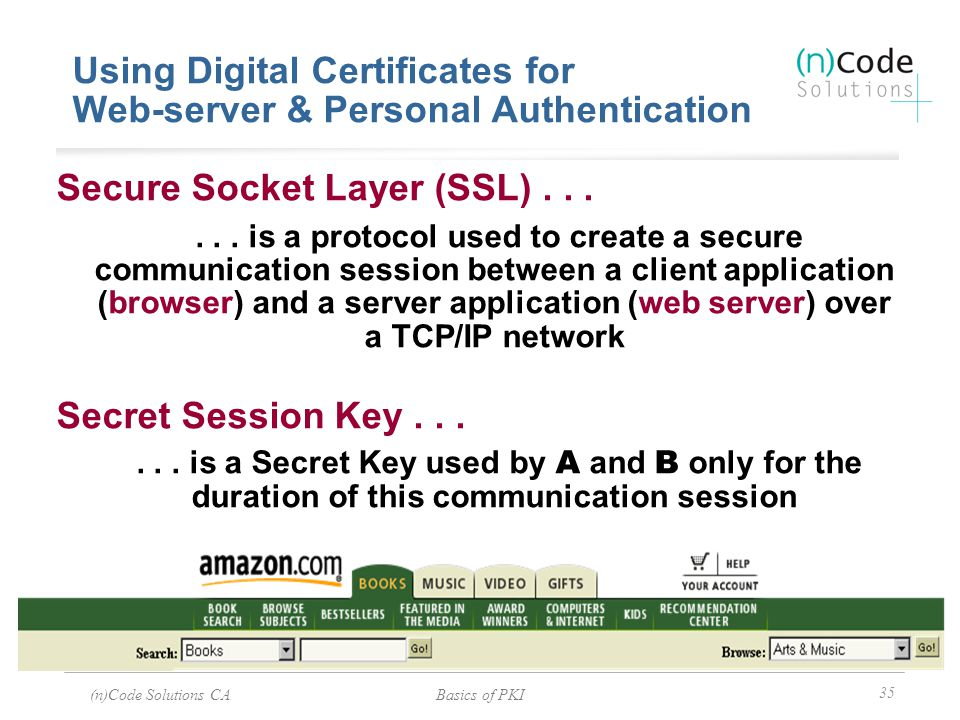 Using Digital Certificates for Web-server & Personal Authentication