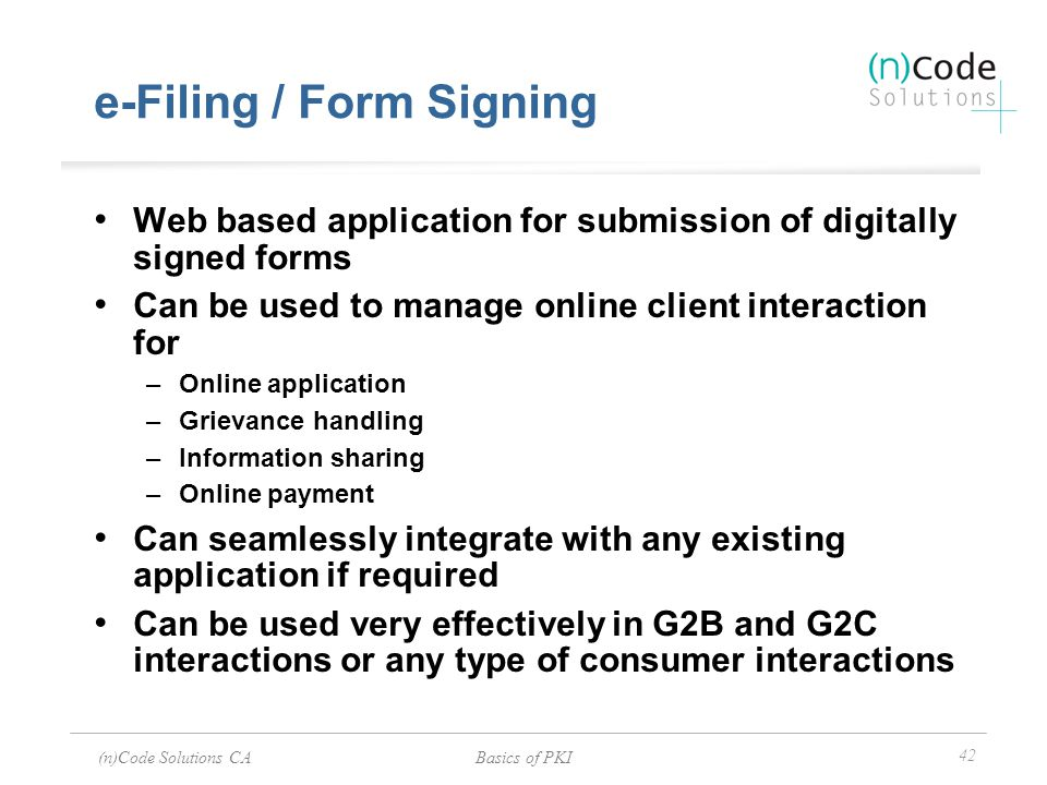 e-Filing / Form Signing