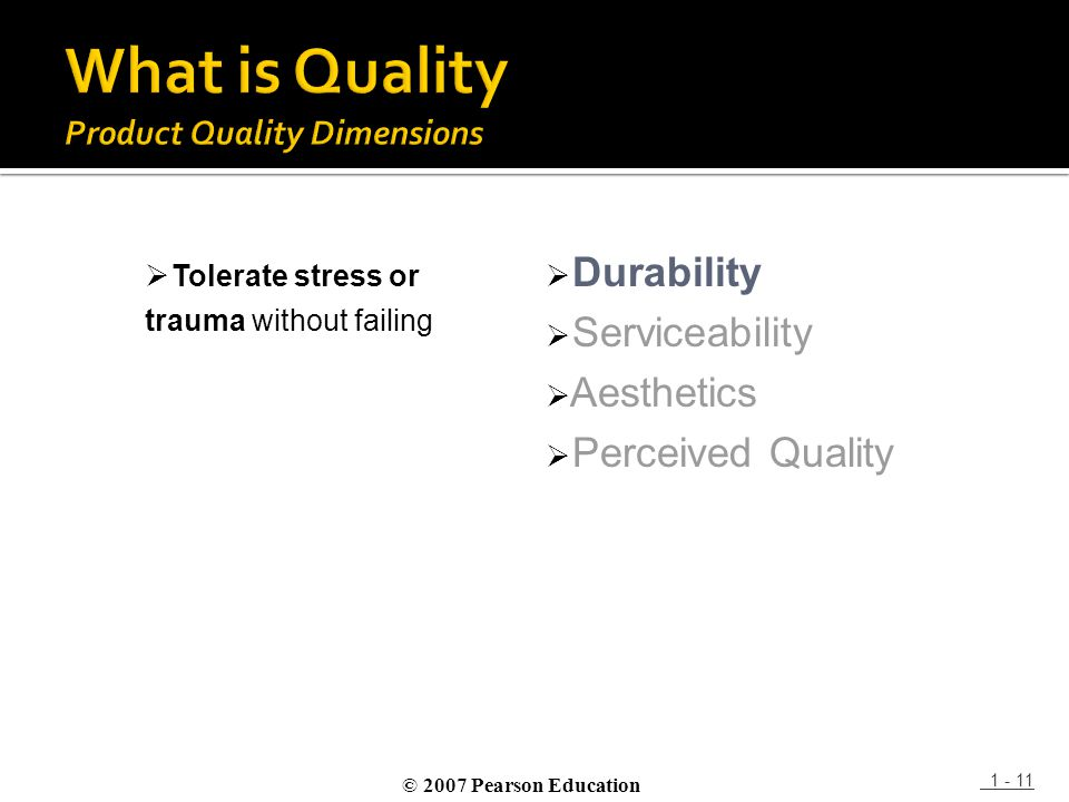 What is Quality Product Quality Dimensions