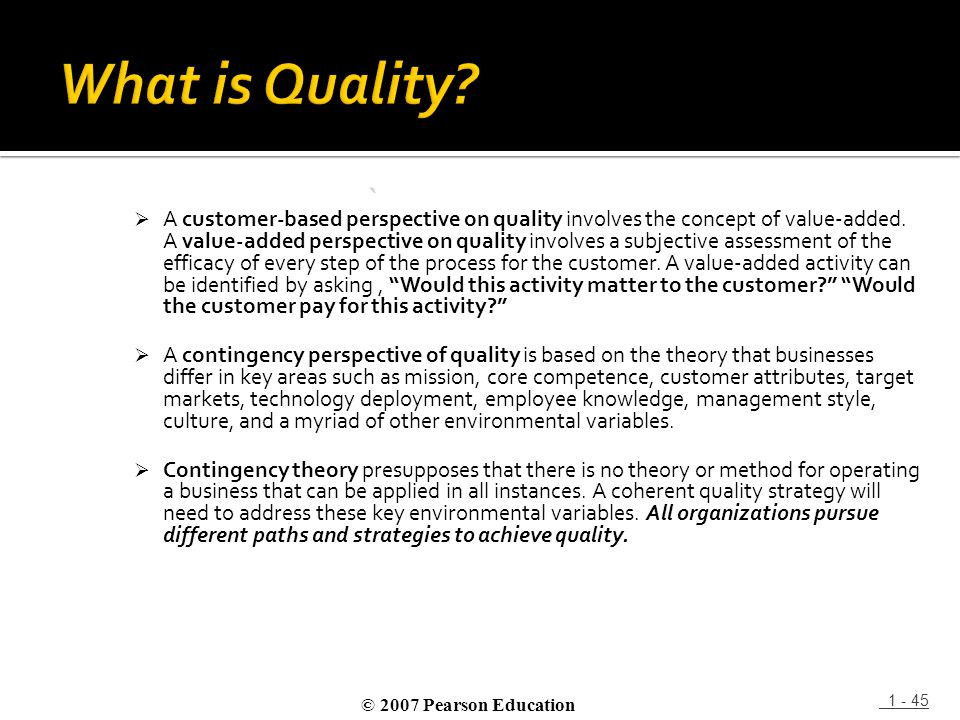 What is Quality `
