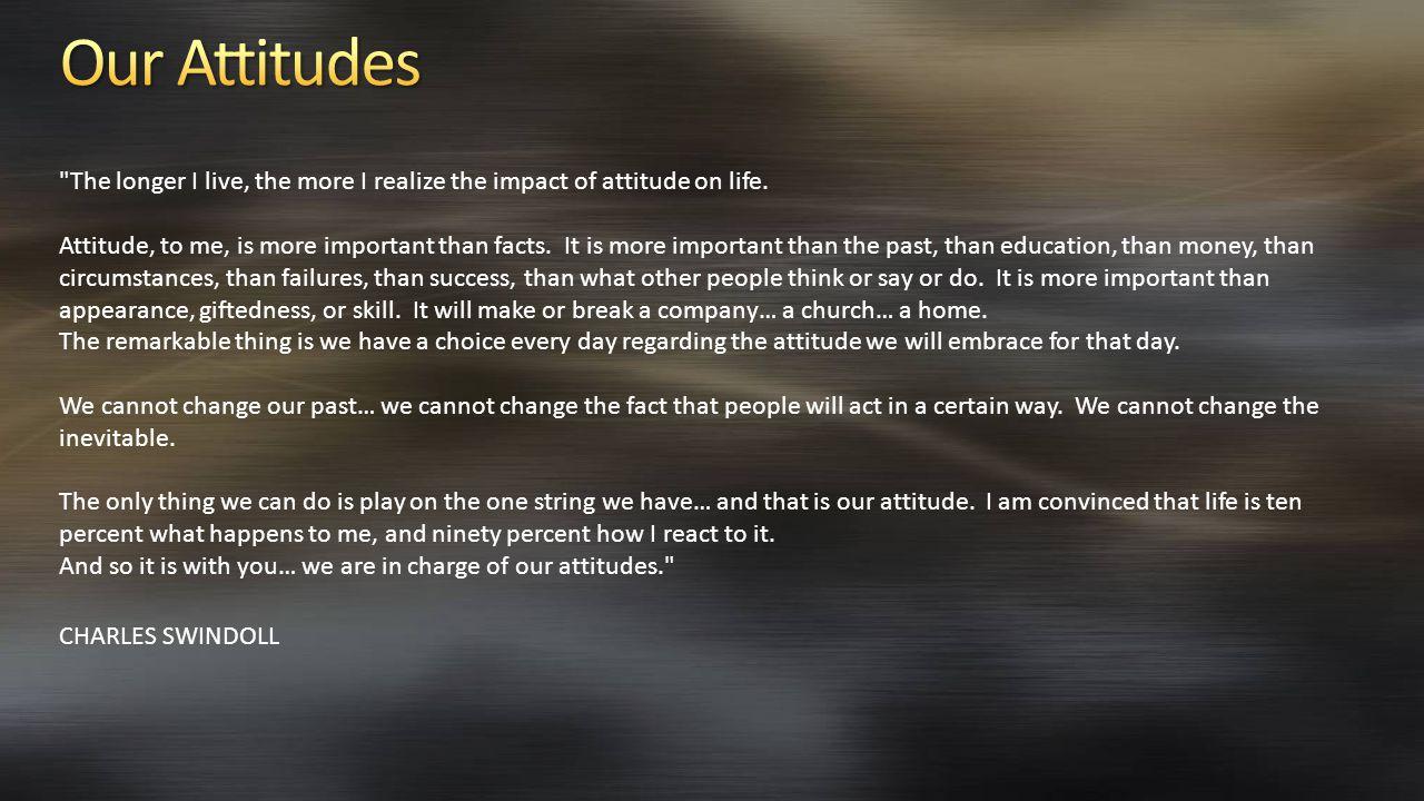 Our Attitudes