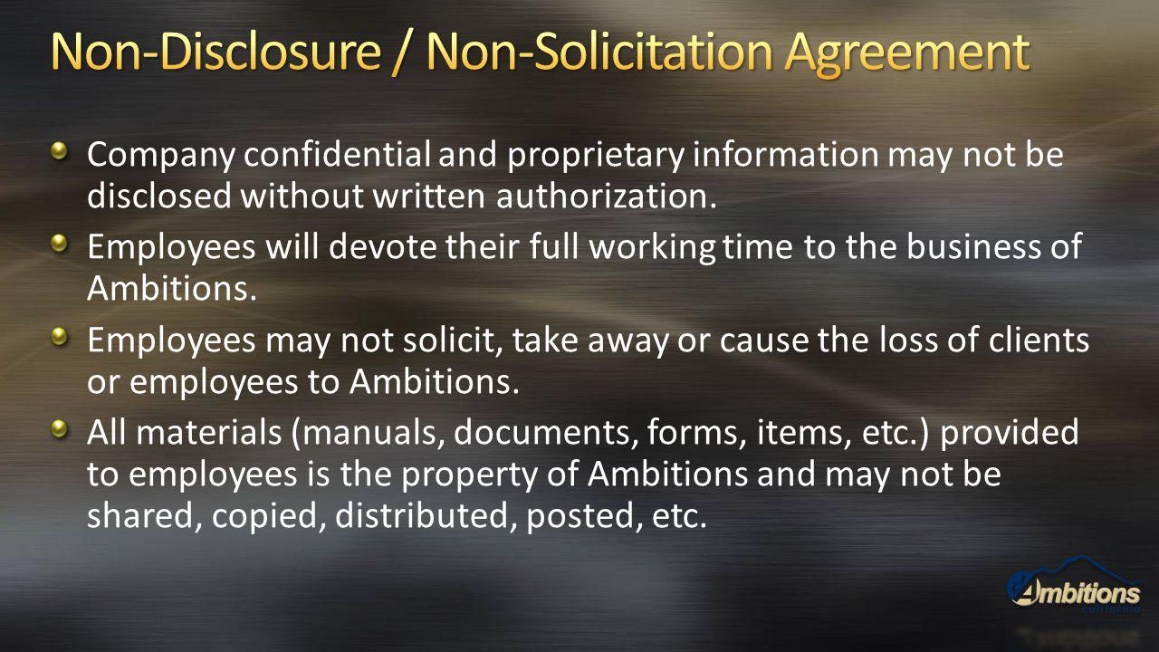 Non-Disclosure / Non-Solicitation Agreement
