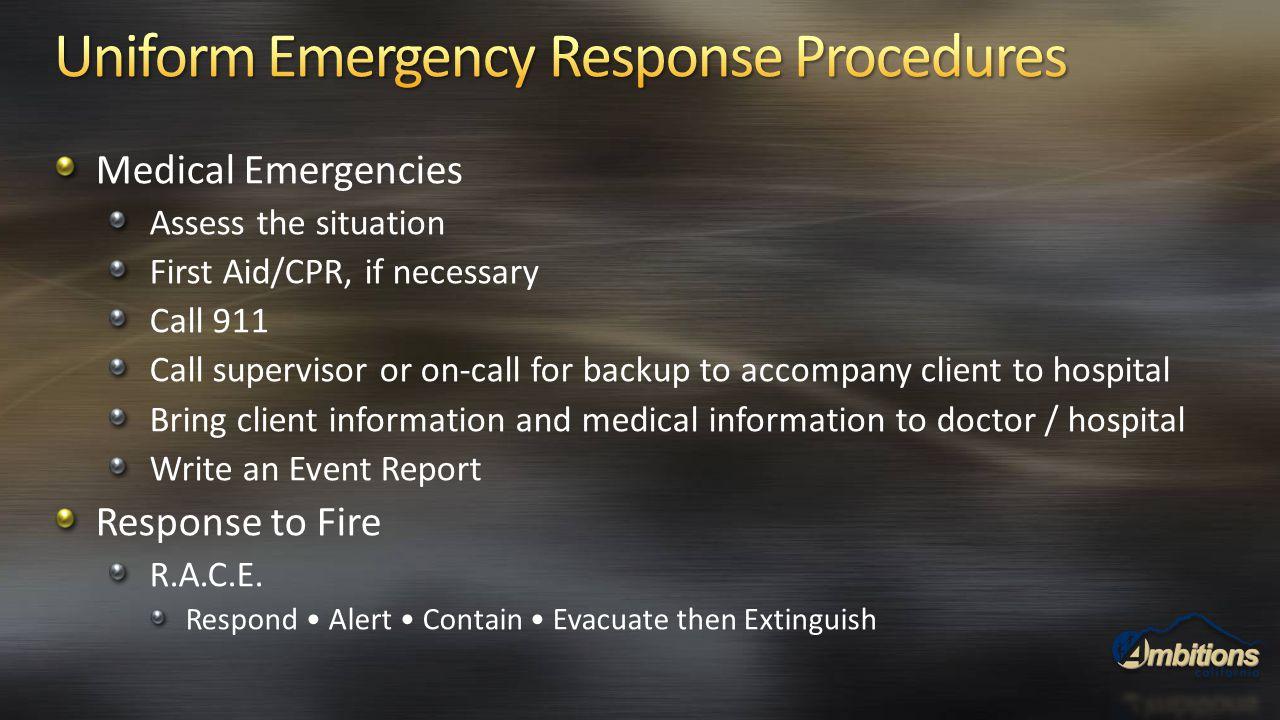 Uniform Emergency Response Procedures