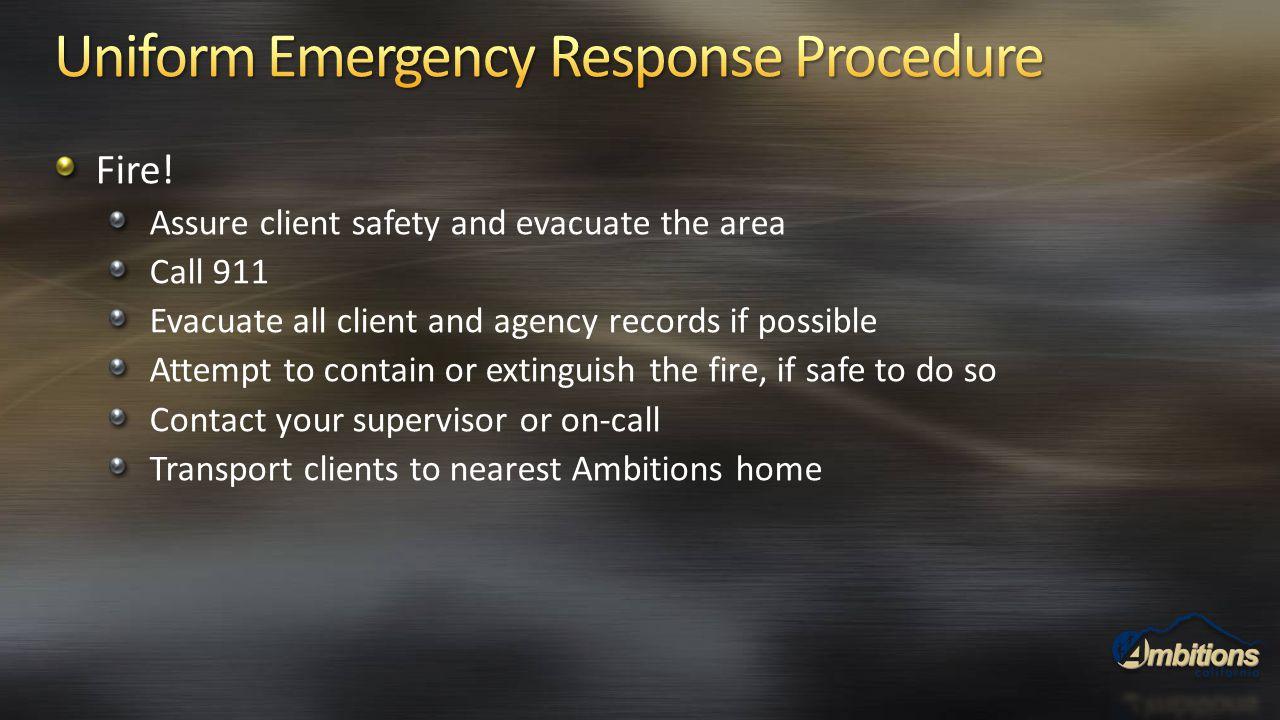Uniform Emergency Response Procedure