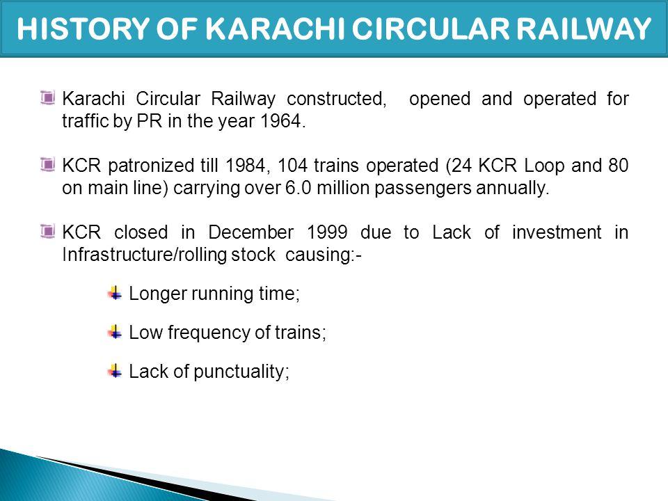 HISTORY OF KARACHI CIRCULAR RAILWAY