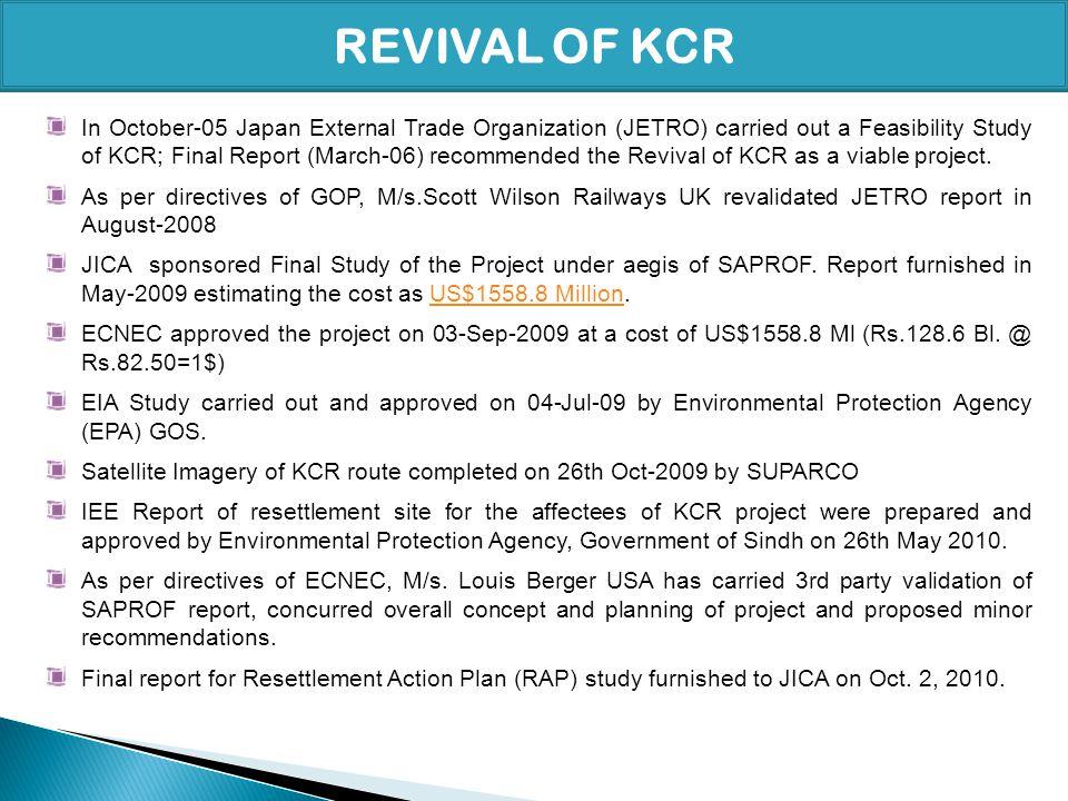 REVIVAL OF KCR
