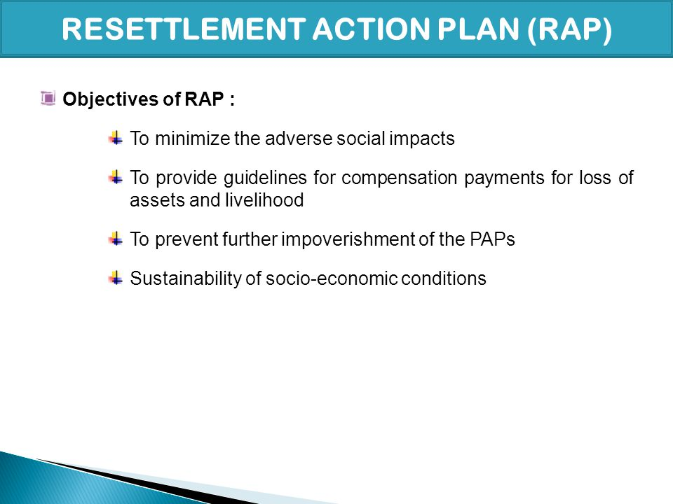 RESETTLEMENT ACTION PLAN (RAP)