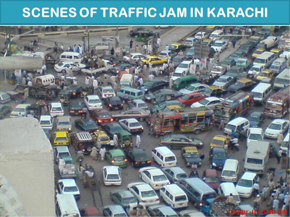 SCENES OF TRAFFIC JAM IN KARACHI