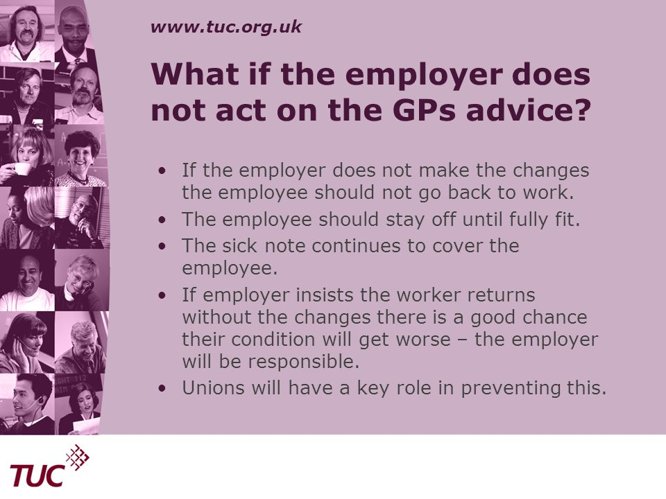 What if the employer does not act on the GPs advice