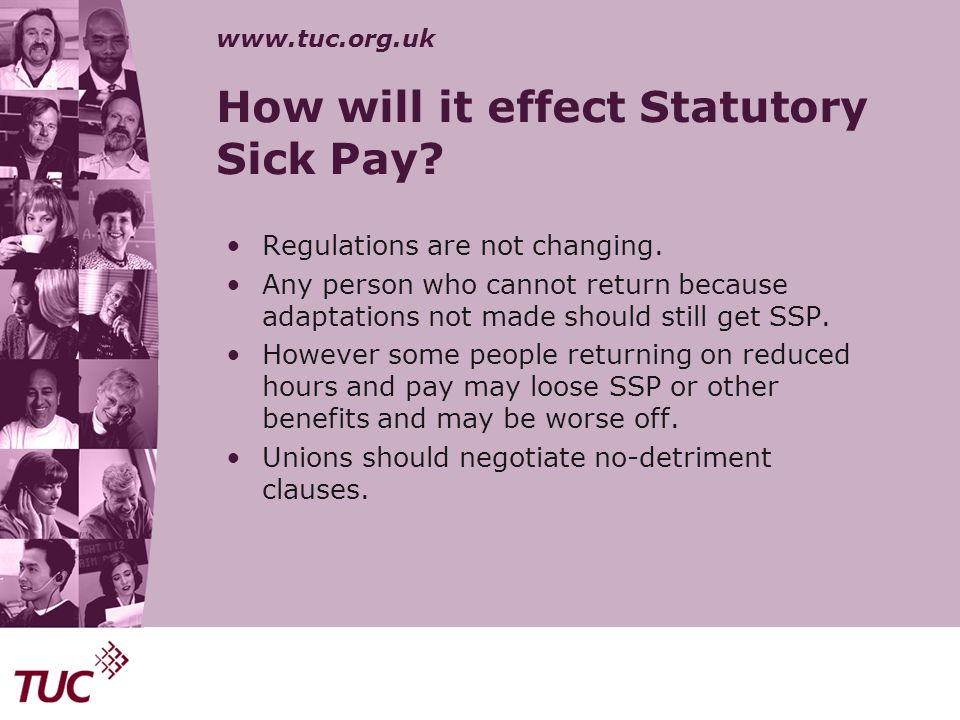 How will it effect Statutory Sick Pay
