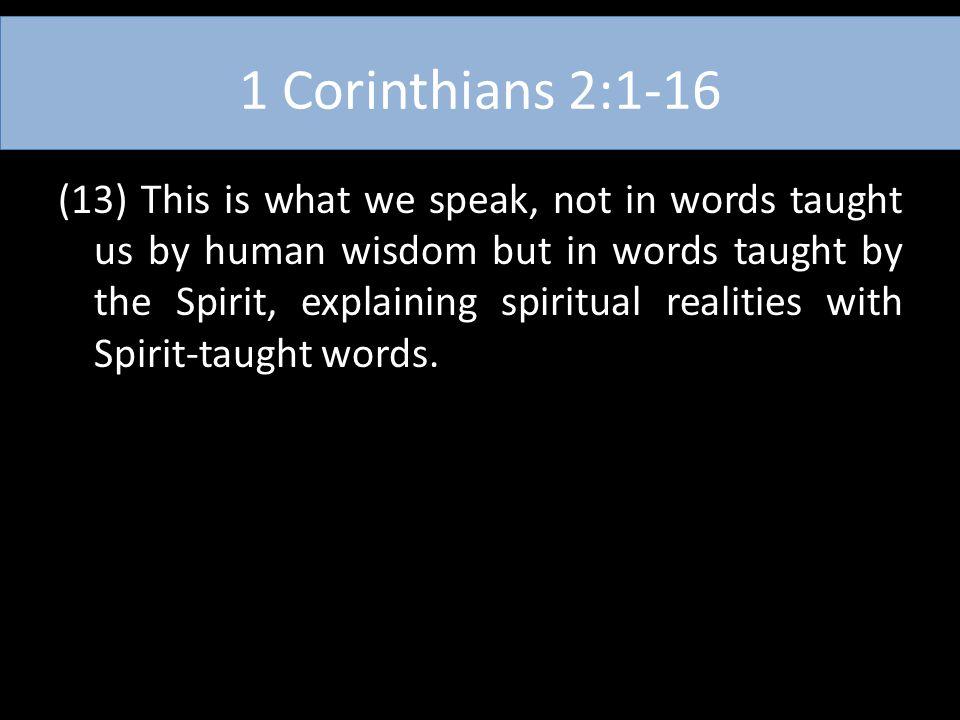 1 Corinthians 2:1-16