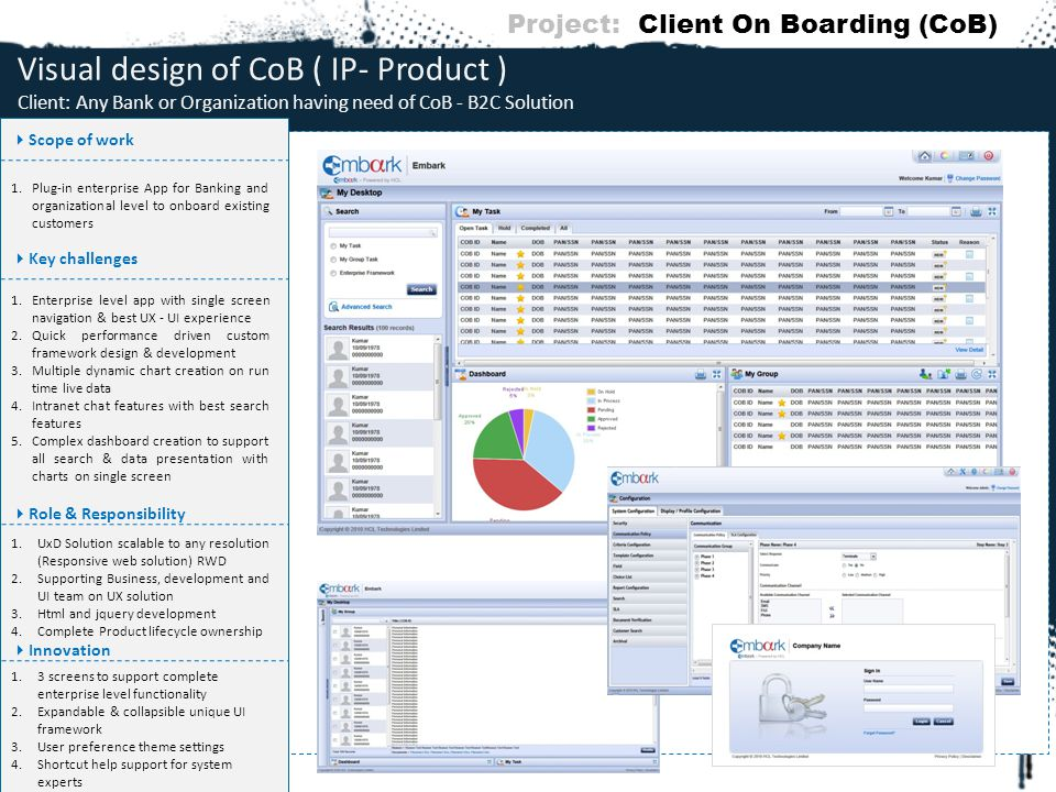 Project: Client On Boarding (CoB)