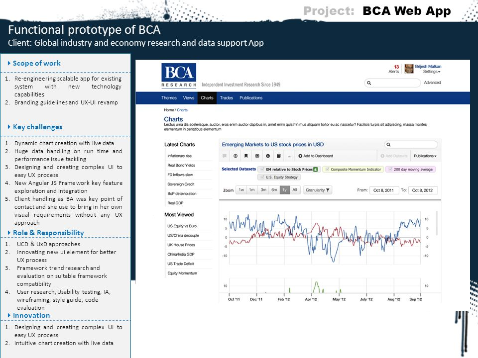 Project: BCA Web App Functional prototype of BCA Client: Global industry and economy research and data support App.