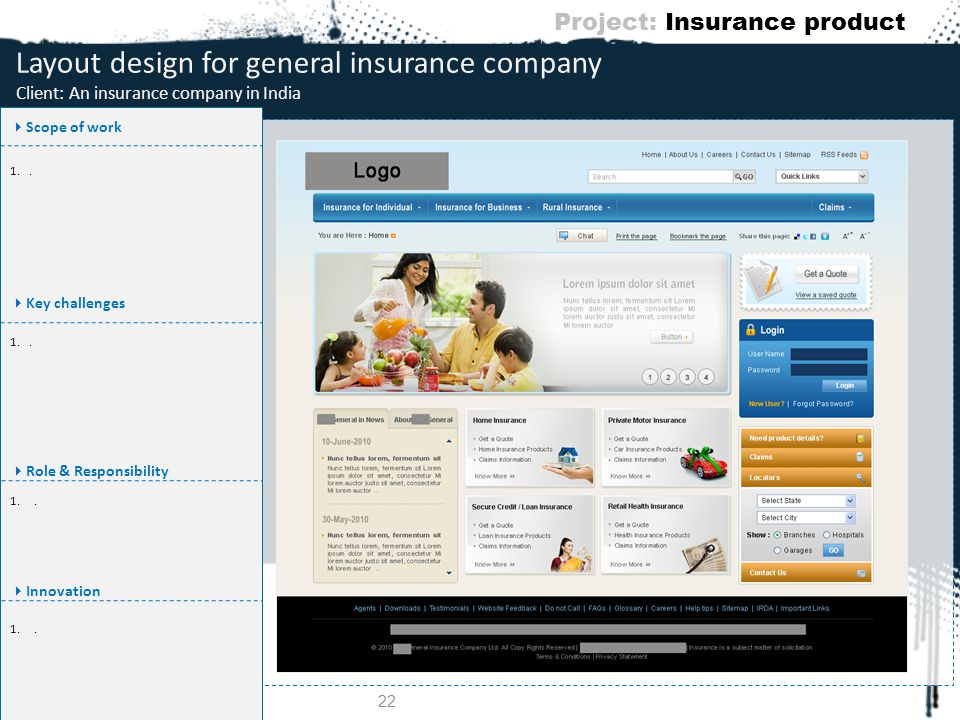 Project: Insurance product