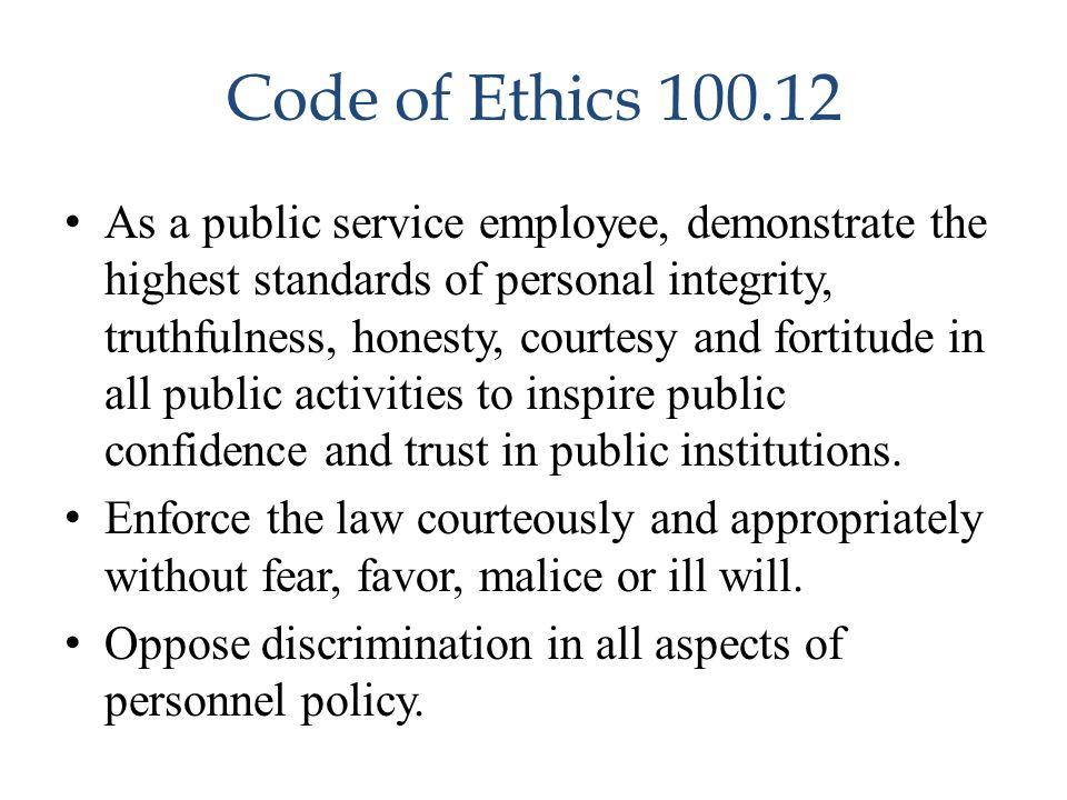 Code of Ethics 100.12