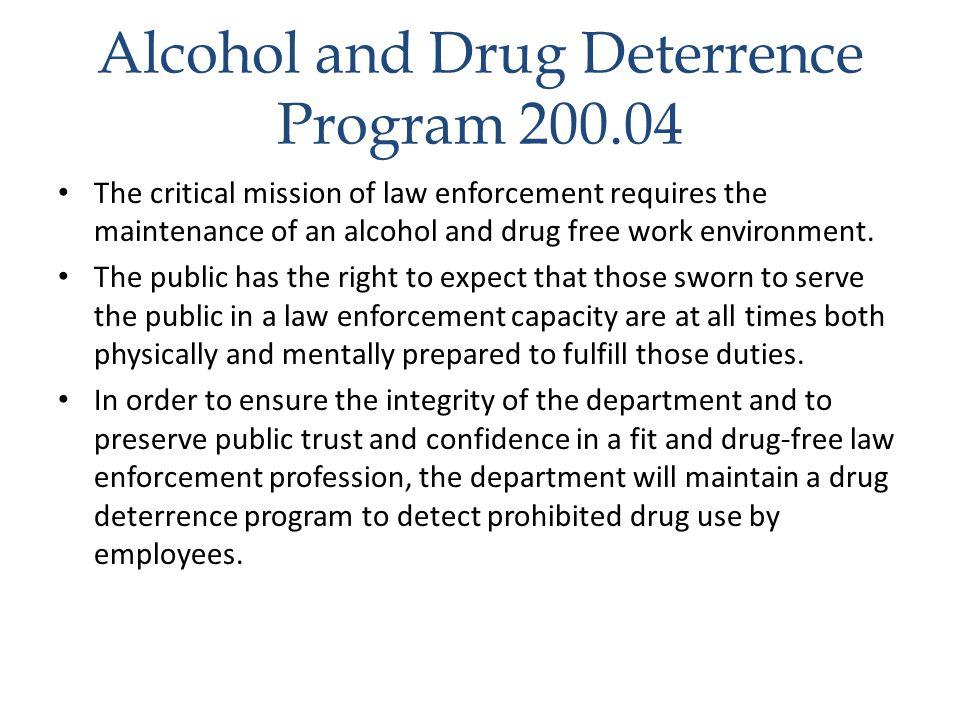 Alcohol and Drug Deterrence Program 200.04