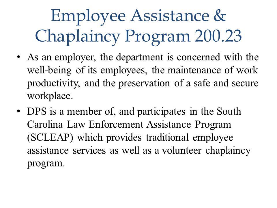 Employee Assistance & Chaplaincy Program 200.23