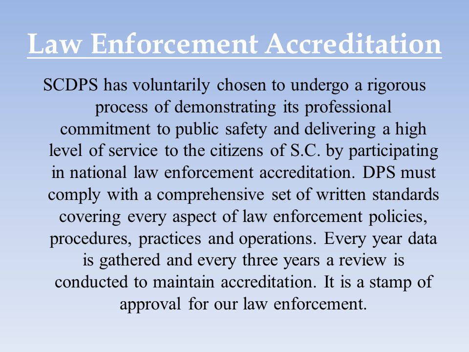 Law Enforcement Accreditation