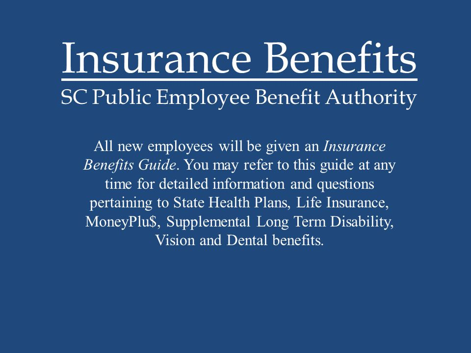 Insurance Benefits SC Public Employee Benefit Authority