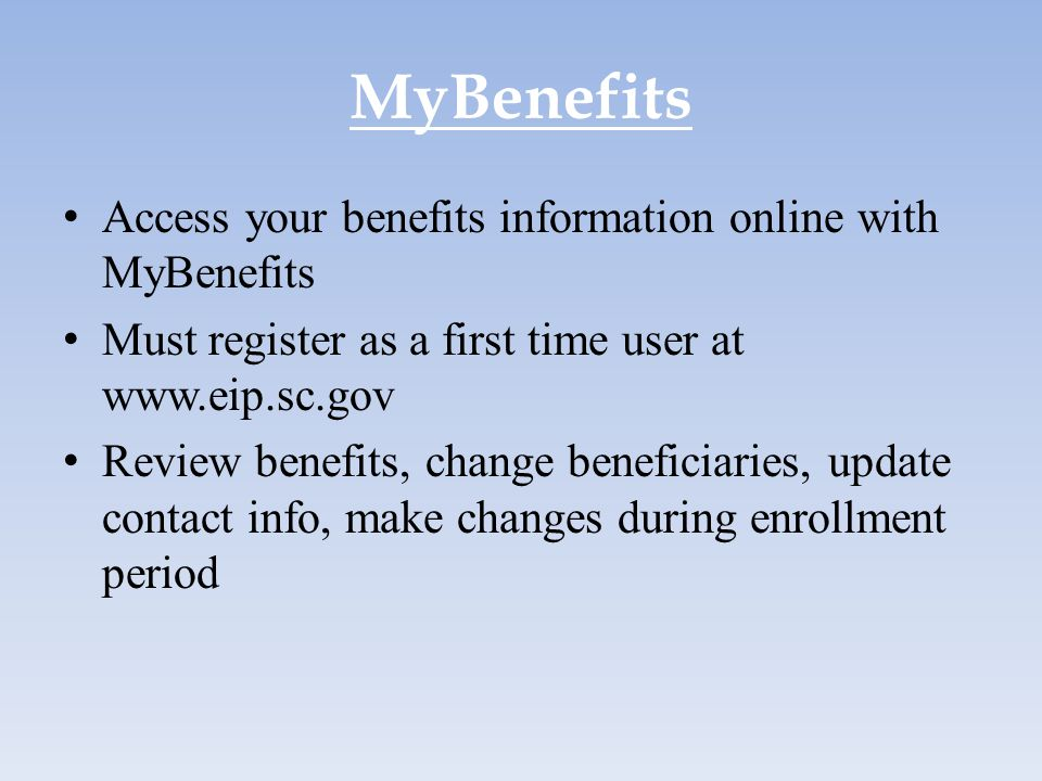 MyBenefits Access your benefits information online with MyBenefits