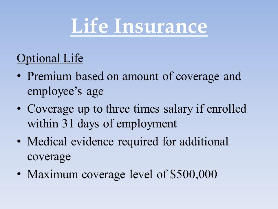 Life Insurance Optional Life