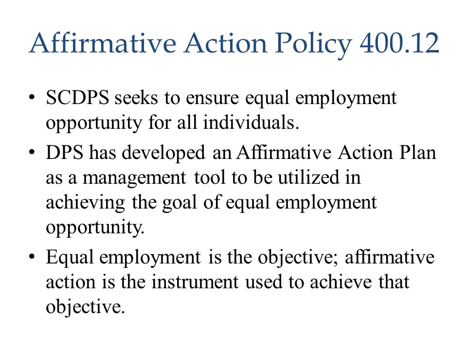 Affirmative Action Policy 400.12