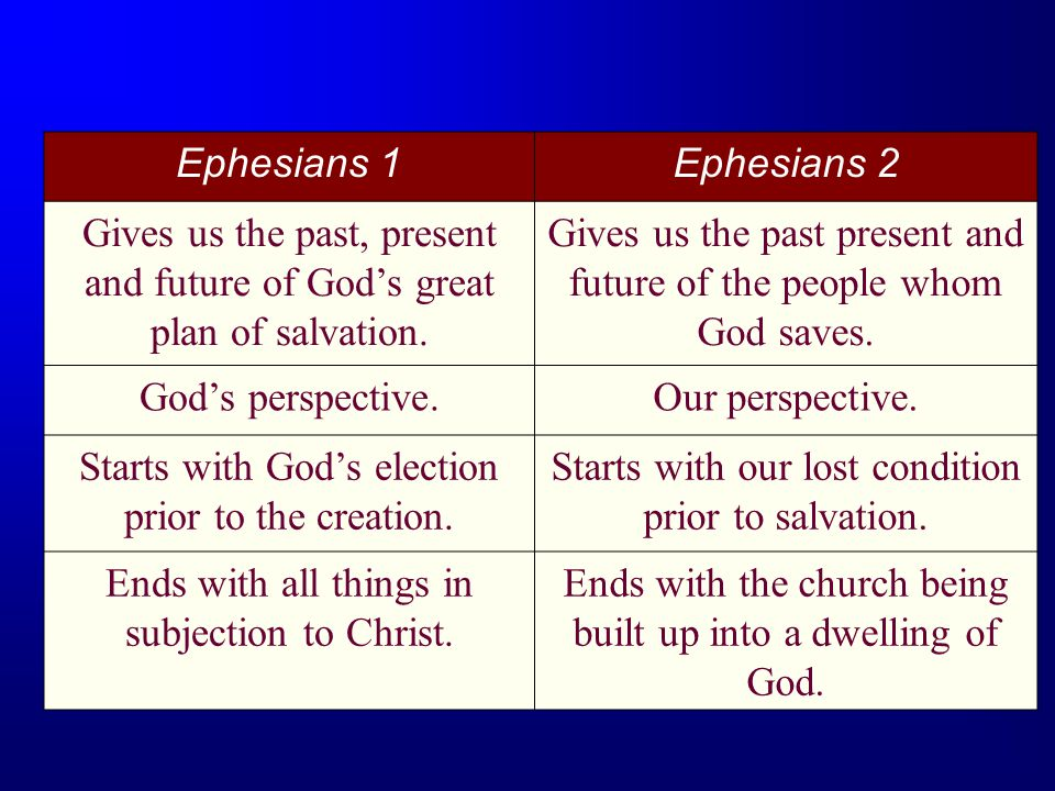 Gives us the past present and future of the people whom God saves.