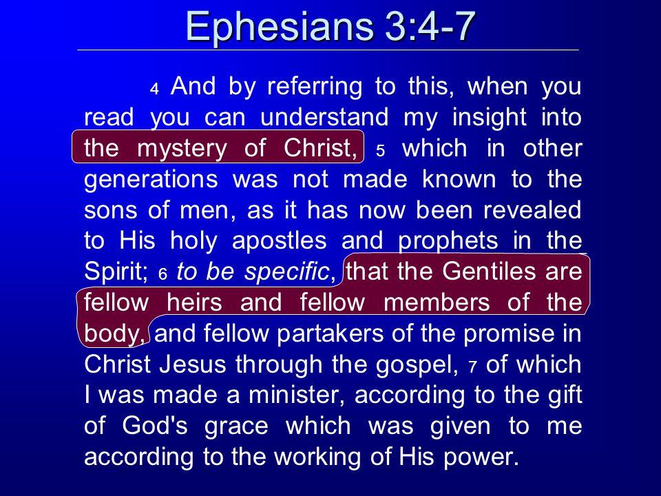 Ephesians 3:4-7