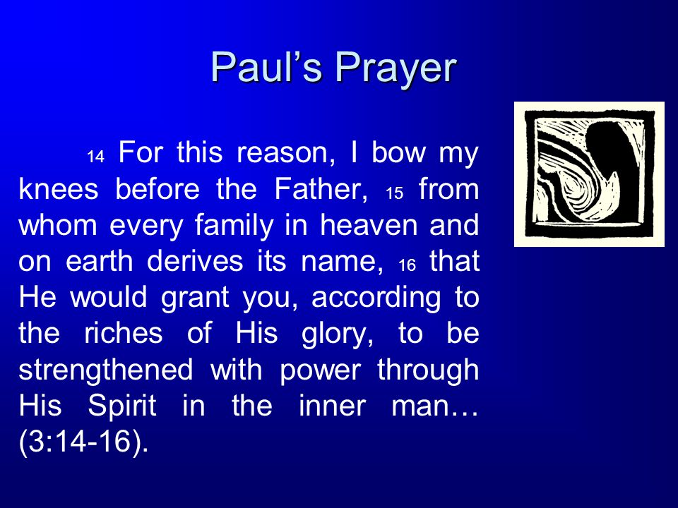 Paul's Prayer
