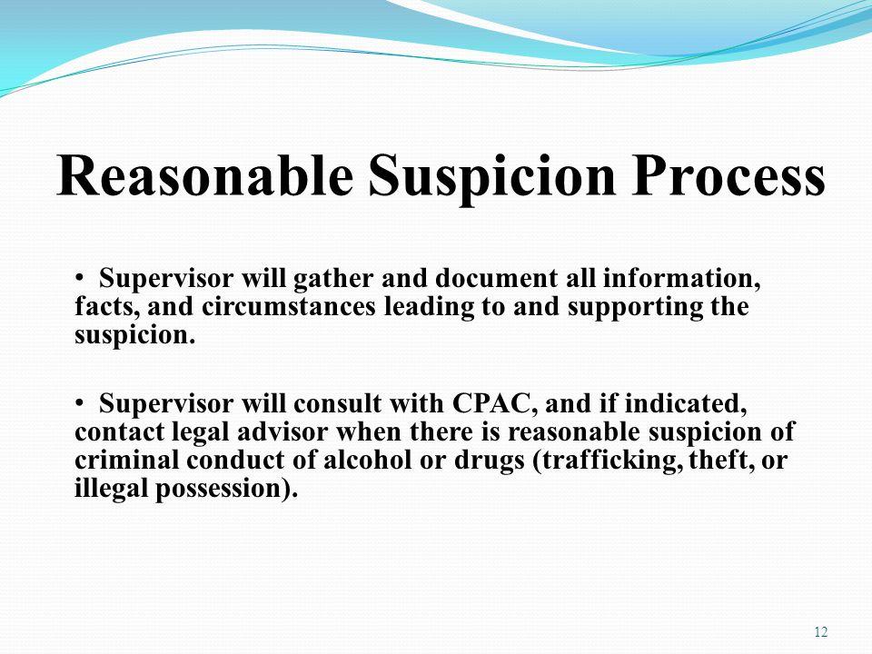 Reasonable Suspicion Process