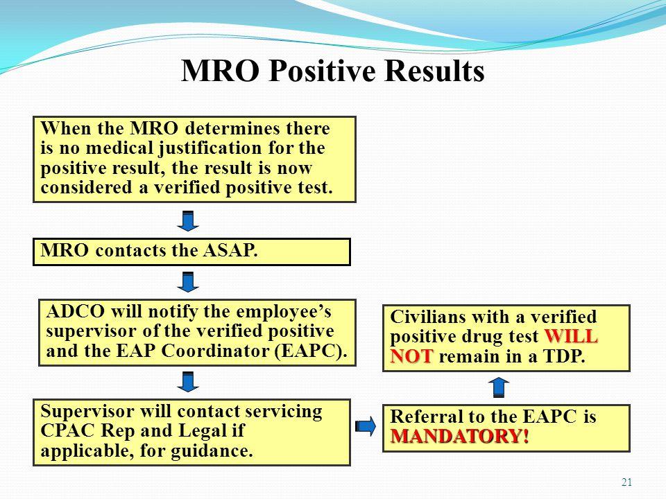 MRO Positive Results
