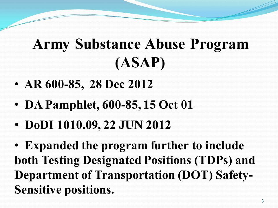 Army Substance Abuse Program (ASAP)