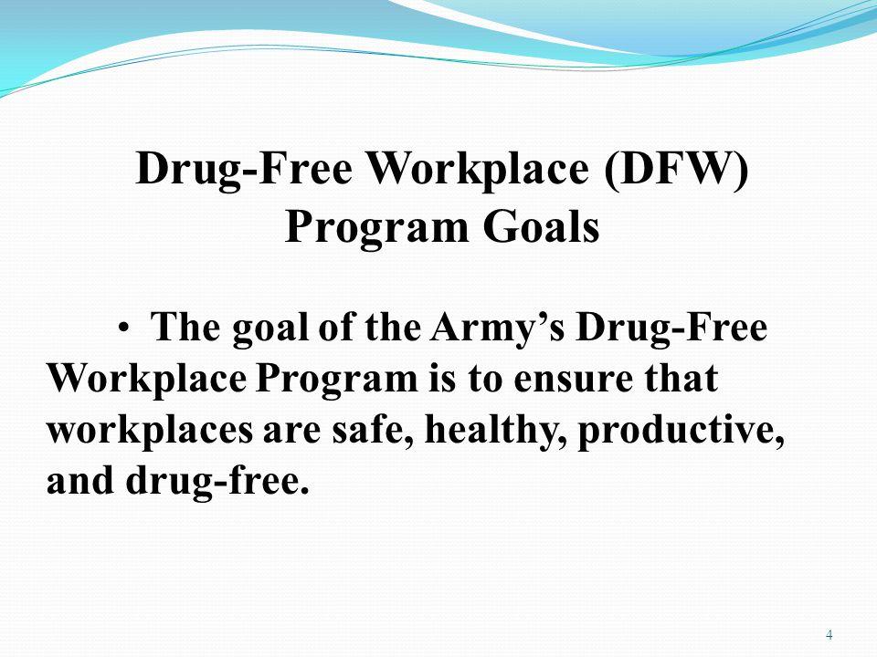 Drug-Free Workplace (DFW) Program Goals