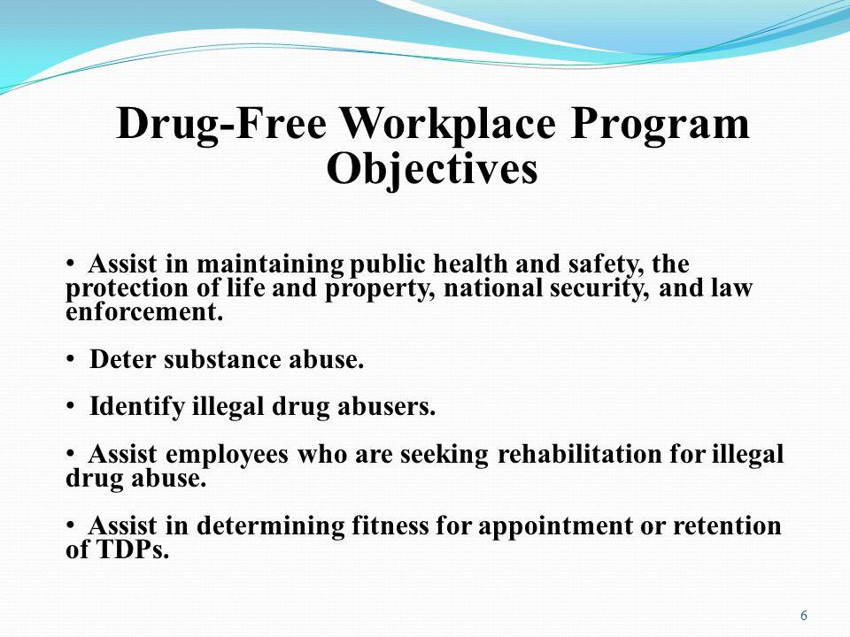 Drug-Free Workplace Program Objectives